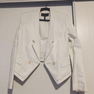 BCBG White Blazer